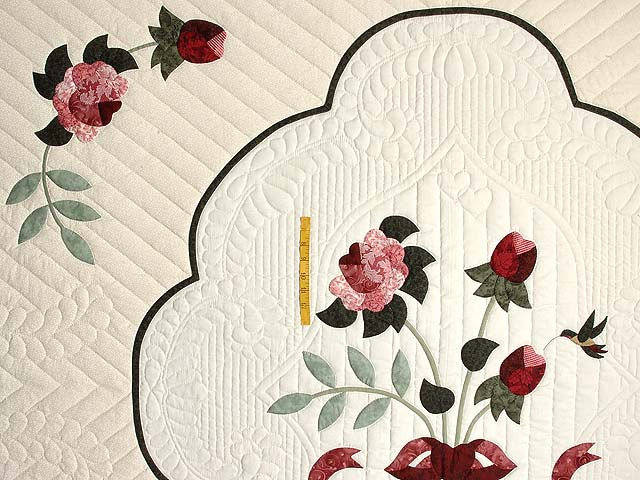 King Mint Burgundy and Rose Lancaster Treasures Quilt Photo 4