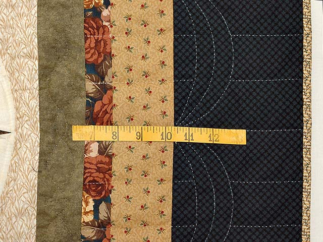 Blue Gold and Brown Compass Star Quilt Photo 6