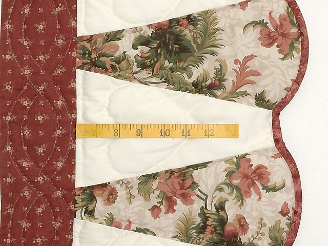 Burgundy Moss and Rose Dahlia Star Quilt with Cones Photo 6
