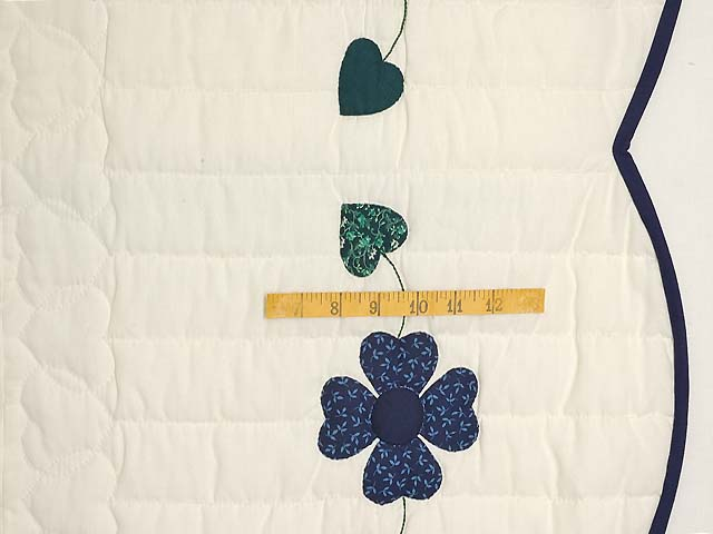 Navy and Blue Heart Bouquet Quilt Photo 6