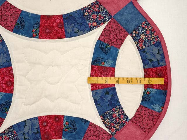 Rose & Blue Double Wedding Ring Quilt Photo 7