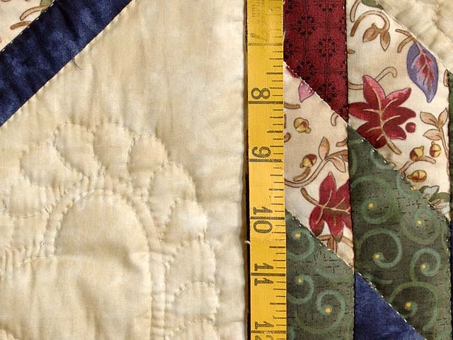 Navy Burgundy Green and Tan Lone Star Log Cabin Quilt Photo 6