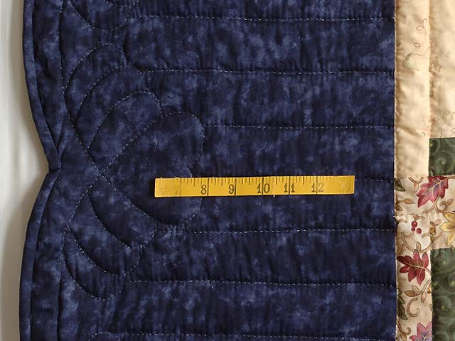 Navy Burgundy Green and Tan Lone Star Log Cabin Quilt Photo 7