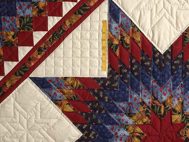 Gold Blue and Red Lone Star Trip Quilt Photo 4