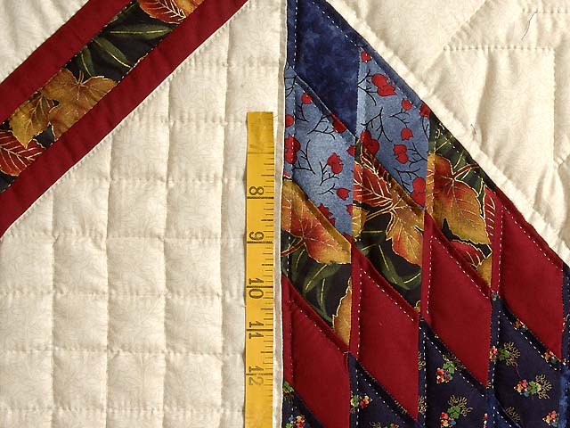 Gold Blue and Red Lone Star Trip Quilt Photo 5