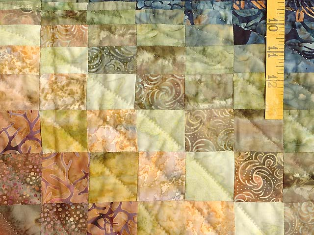 King Hand Painted Bargello Wave Quilt Photo 6