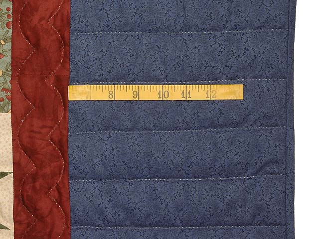 Dark Blue and Multicolor Court Steps Stars Quilt Photo 6