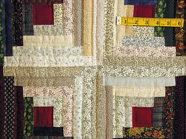 King-Size Autumn Log Cabin Quilt Photo 4