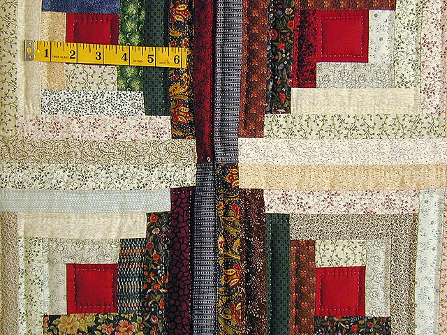 King-Size Autumn Log Cabin Quilt Photo 5