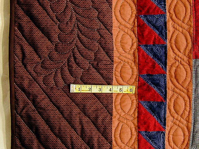 King-Size Autumn Log Cabin Quilt Photo 6