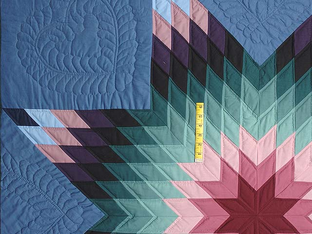 Amish Colonial Colors Lone Star Quilt Photo 4