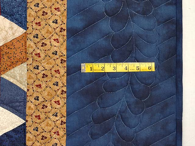 Blue and Multicolor King Tumbling Blocks Quilt Photo 6