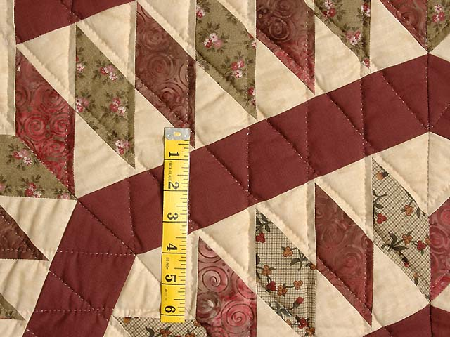 Burgundy Tan and Sage Massachusetts Star Quilt Photo 5