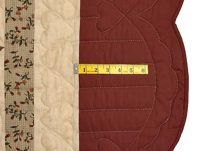 Burgundy Tan and Sage Massachusetts Star Quilt Photo 6