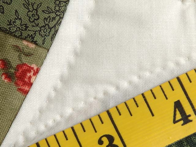 Green and Coral Double Wedding Ring Quilt Photo 8