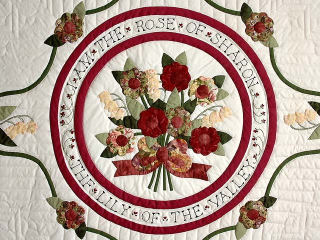Rose of Sharon Quilt -- superb cleverly made Amish Quilts from ... : rose of sharon quilt - Adamdwight.com