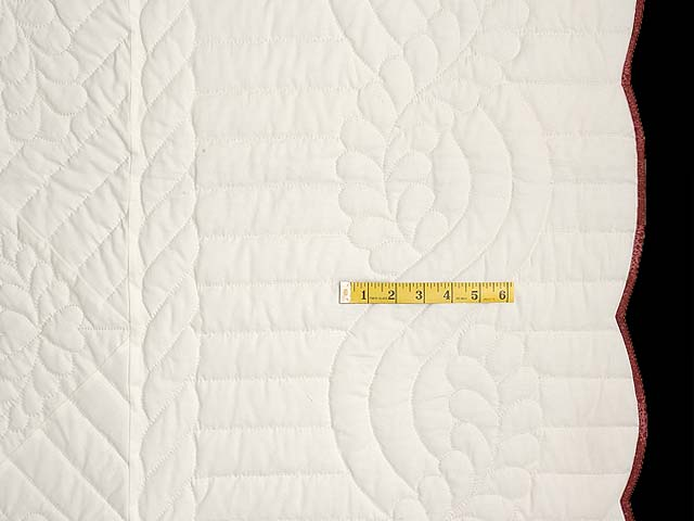 Burgundy and Sage Rose of Sharon Quilt Photo 7