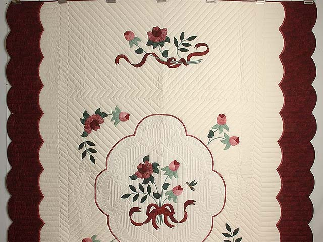 Burgundy and Rose Lancaster Treasures Quilt Photo 2