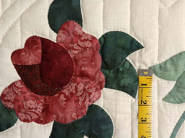 Burgundy and Rose Lancaster Treasures Quilt Photo 5