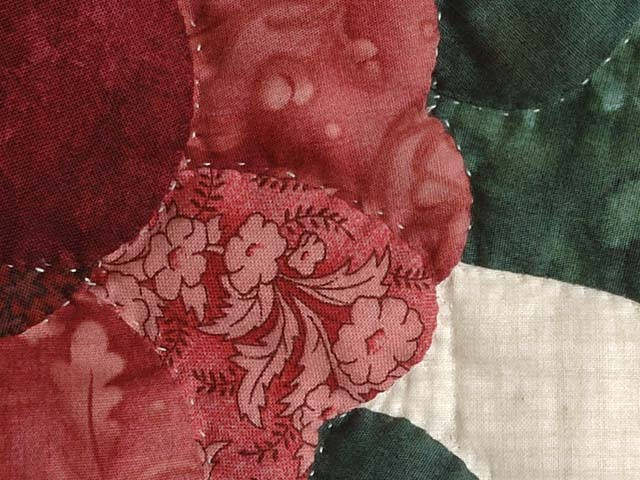Burgundy and Rose Lancaster Treasures Quilt Photo 6