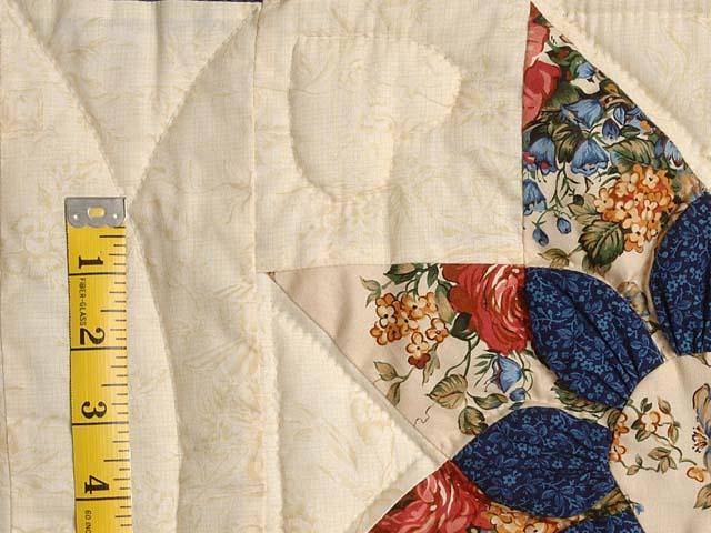Burgundy Navy and Tan Dahlia Star Quilt Photo 5