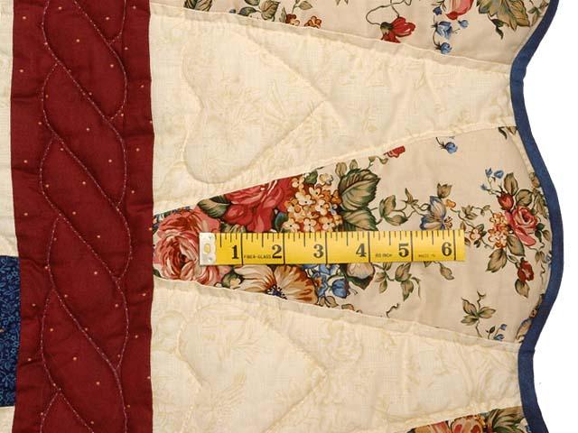 Burgundy Navy and Tan Dahlia Star Quilt Photo 7