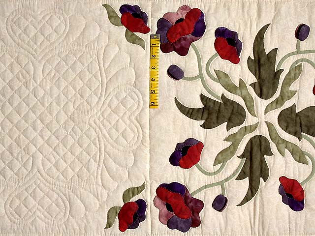 Mauve and Burgundy Poppy Fields Quilt Photo 4
