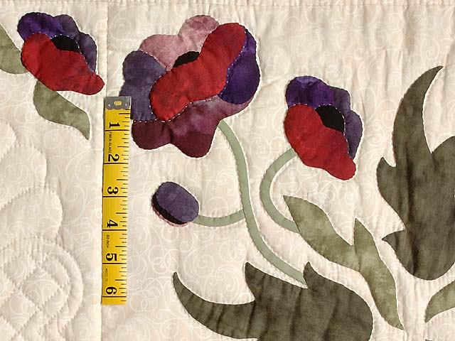 Mauve and Burgundy Poppy Fields Quilt Photo 5