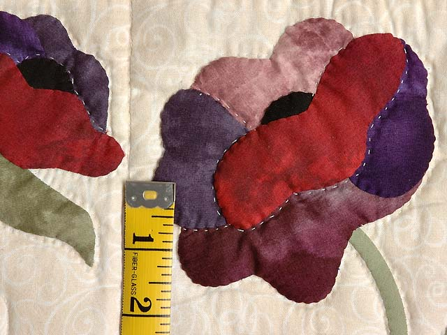 Mauve and Burgundy Poppy Fields Quilt Photo 6