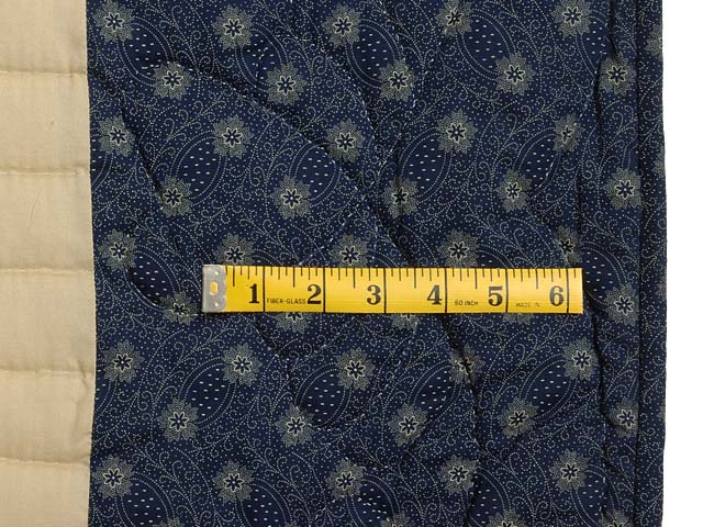 Blue and Tan Log Cabin Quilt Photo 6