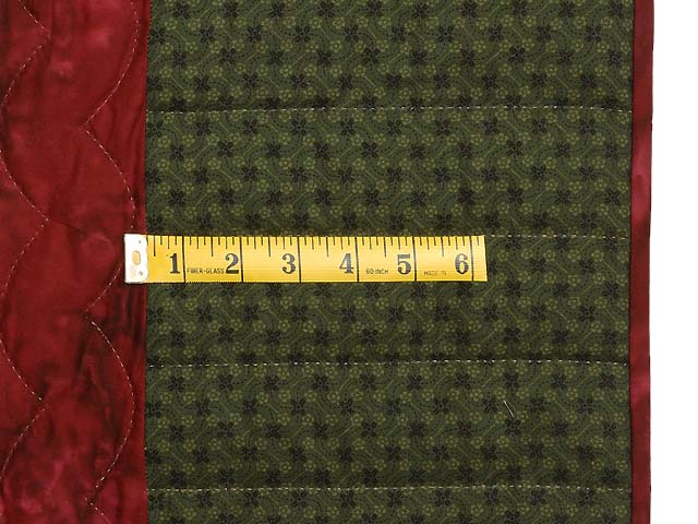 Green Burgundy and Tan Pineapple Quilt Photo 7