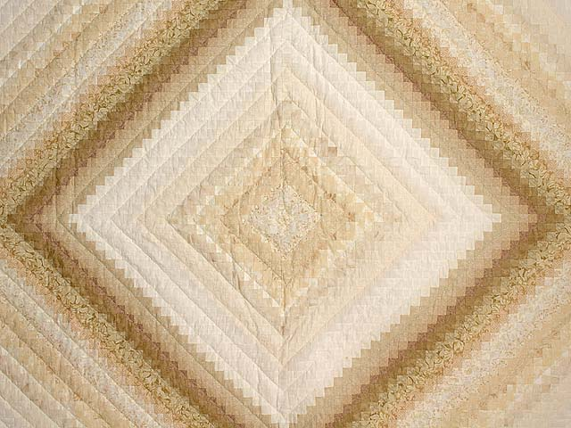 Wheat and Ivory Postage Stamp Quilt Photo 3