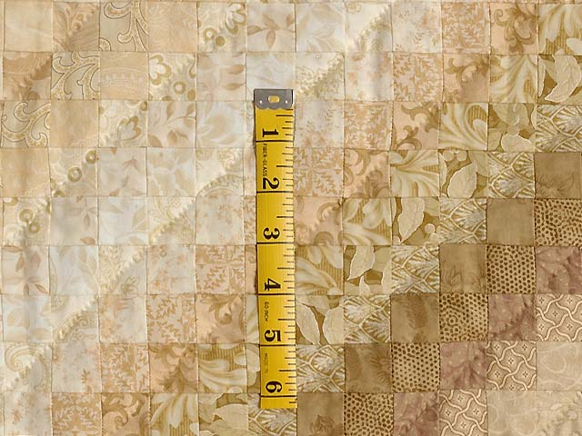 Wheat and Ivory Postage Stamp Quilt Photo 5