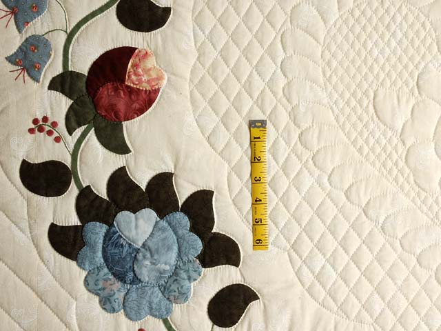 Powder Blue and Rose Heart of Roses Quilt Photo 4