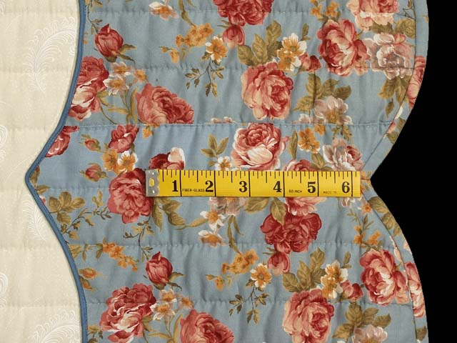 Powder Blue and Rose Heart of Roses Quilt Photo 7