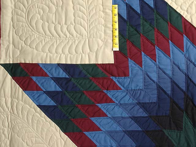 Amish Paper Bag Lone Star Quilt Photo 4