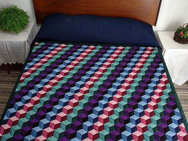 Amish Tumbling Blocks Quilts Photo 1