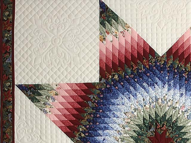 Blue Burgundy and Green Lone Star Country Bride Quilt Photo 4