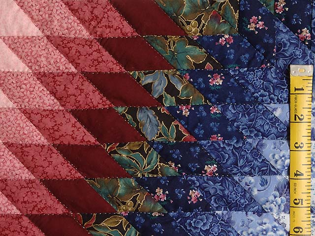 Blue Burgundy and Green Lone Star Country Bride Quilt Photo 6