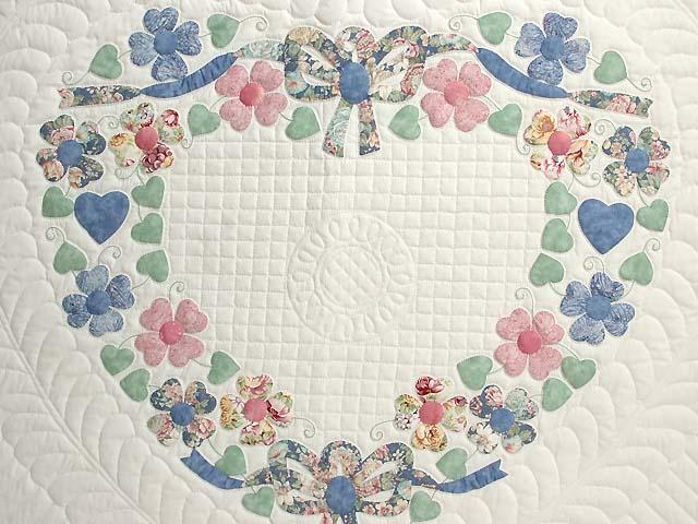 Pastel Hearts Bouquet Quilt Photo 4
