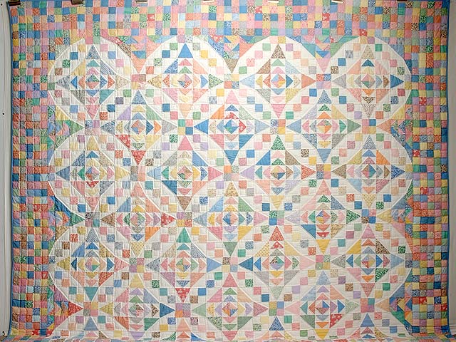 King Pastel Faceted Jewel Quilt Photo 2