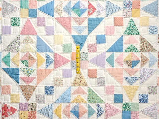 King Pastel Faceted Jewel Quilt Photo 4