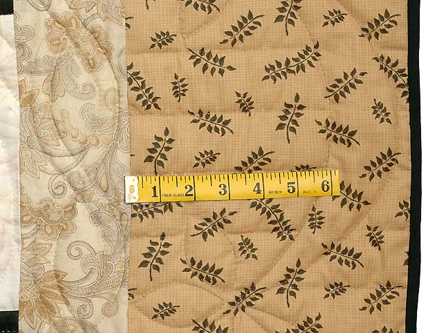 Dark Green Tan and Beige Monticello Log Cabin Quilt Photo 6