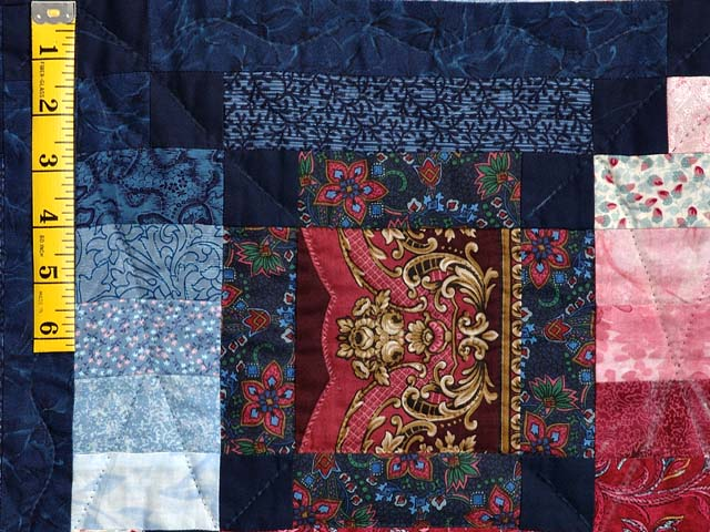 Burgundy Gold and Blue Sumatra Quilt Photo 5