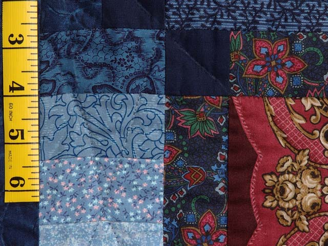 Burgundy Gold and Blue Sumatra Quilt Photo 6