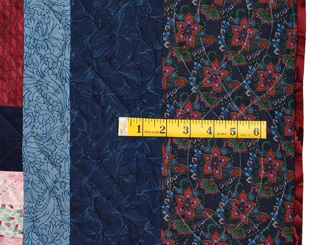 Burgundy Gold and Blue Sumatra Quilt Photo 7
