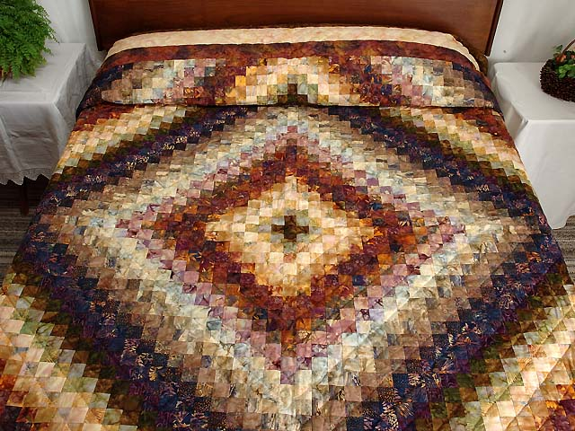 King Hand Painted Cocoa and Plum Color Splash Quilt Photo 1