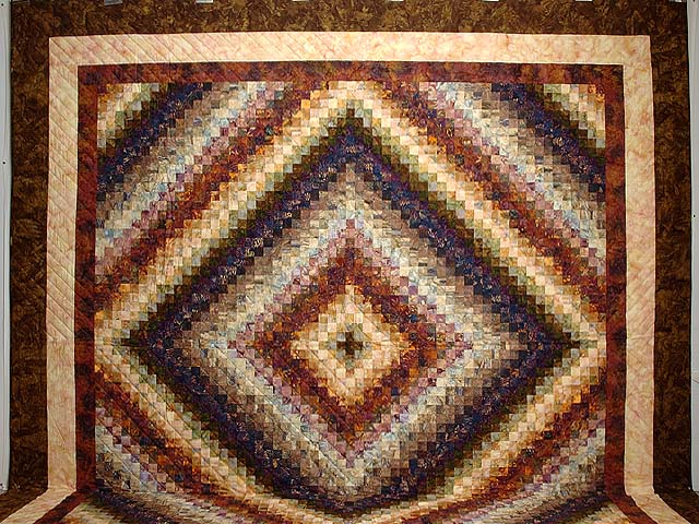 King Hand Painted Cocoa and Plum Color Splash Quilt Photo 2