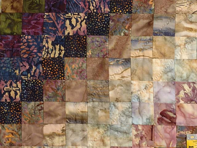 King Hand Painted Cocoa and Plum Color Splash Quilt Photo 6