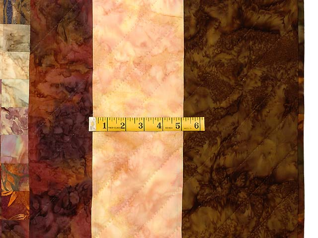 King Hand Painted Cocoa and Plum Color Splash Quilt Photo 7